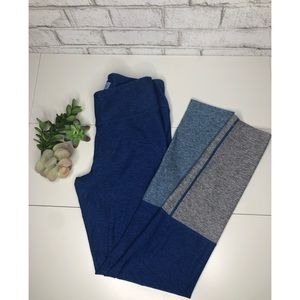 Outdoor Voices Color Block Dipped Blue Leggings